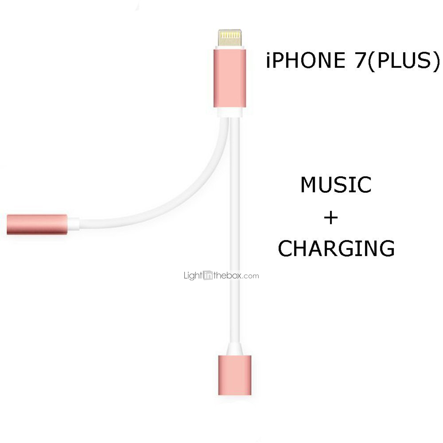 new 2 in 1 headphone audio jack adapter cable for iphone 7 7plus 8 pin to 3 5mm earphone cable