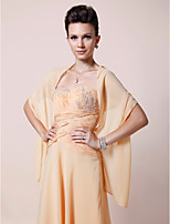 Women's Wrap Shawls Sleeveless Chiffon Daffodil Wedding / Party/Evening Wide collar 39cm Draped Open Front