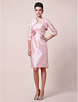 Women's Wrap Shrugs 3/4-Length Sleeve Taffeta Pink Wedding / Party/Evening Scoop Beading Open Front