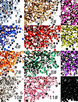 10PCS 50 Nail Art Acrylic Rhinestones 2mm Decoration(Random Color)