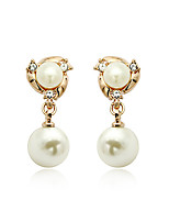 Women's European Style Fashion Pearl Alloy Drop Earrings