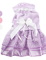 All Seasons Terylene Dresses for Dogs Purple XS / M / XL / S / L / XXL