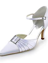 Women's Shoes Silk Stiletto Heel Heels / Pointed Toe Heels Wedding / Party & Evening / Dress White