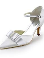여성의 신발 실크 스틸레토 힐 힐 / 뾰족한 발가락 발 뒤꿈치 웨딩 / 파티&저녁 / 드레스 화이트