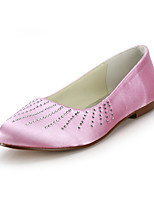 Women's Shoes Silk Flat Heel Round Toe Flats Wedding / Party & Evening / Dress Blue / Yellow / Pink / Purple / Red