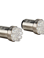 1157 0.4W 9-LED White Light Bulb for Car Brake Lamps (2-Pack, DC 12V)