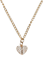 Twinkling Heart Style Rose Golden Plated Necklace