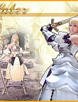 Fate/stay night Saber White Anmor Cosplay Outfit