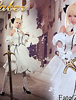 Fate/stay night Saber White Costume Cosplay Outfit