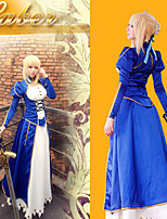 Fate/stay night Saber Blue Costume Cosplay Outfit