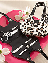 Leopard Fashion Design Set Manicure favor de la boda (4 Piezas)