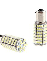 1156 5W 102x3528 SMD White Light LED Bulb for Car Tail/Turn Signal Lamp (12V, 2-Pack)