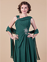 Women's Wrap Shawls Sleeveless Chiffon Dark Green Wedding / Party/Evening Wide collar 39cm Draped Open Front