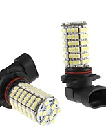 9006 6W 120x3528 SMD White LED Bulb for Car Fog Lamp (12V, 2-Pack)