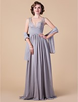 Women's Wrap Shawls Sleeveless Chiffon Silver Wedding / Party/Evening Wide collar Draped Open Front
