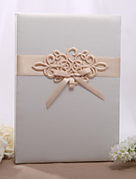 Embroidered Ivory Tri-Fold Large Guestbook