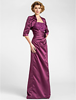 Women's Wrap Shrugs 3/4-Length Sleeve Satin Grape Wedding / Party/Evening Wide collar 39cm Draped Open Front