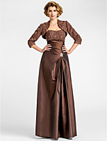Women's Wrap Shrugs 3/4-Length Sleeve Lace / Taffeta Chocolate Wedding / Party/Evening Wide collar Lace Open Front