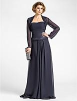 Women's Wrap Shrugs Long Sleeve Chiffon Dark Navy Wedding / Party/Evening Wide collar 39cm Draped Open Front