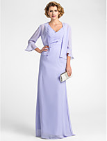 Women's Wrap Coats/Jackets 3/4-Length Sleeve Chiffon Lavender Wedding / Party/Evening Wide collar Draped Open Front