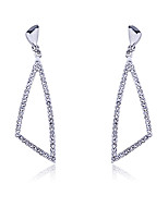 European Style Fashion Studded With Drill Triangle Drop Earrings