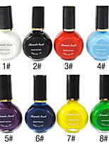 3PCS Multi-color Top Coat Nail Polish for Stamping(10ml,Random Colors)