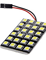 BA9S/Festoon/T10 12W 24x5060SMD 900-1000LM 6000-6500K White Light LED Car Lamp (DC 12V)
