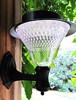 Blanca villa en el jardín de la lámpara de 16 LED al aire libre de la energía solar para montaje en pared patio puerta de paso de luz