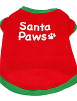 Cute Santa Paws Pattern T-shirt for Pets Dogs (Assorted Sizes)