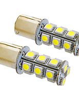 Ba15s/1156 4W 18x5050SMD 330LM 5500-6500K Cool White Light LED Bulb for Car (12V,2pcs)