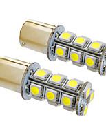 BA15S / 1156 4W 18x5050smd 330lm 5500-6500K luz branca lâmpada LED para o carro (12v, 2pcs)