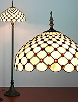 Beads Decoration Floor Lamp, 2 Light, Tiffany Resin Glass Painting Process