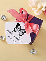 Personalized square tags - Classic Butterfly (set of 36)