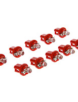 B8.5D 1-LED 10-20LM Red Light LED Bulb for Car (12V,10pcs)