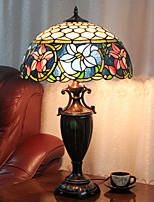 Table Lamp, 2 Light, Tiffany Quaint Resin Glass Painting