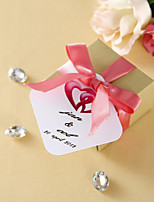 Personalized Favor Tags - Pink Twined Hearts (set of 36)