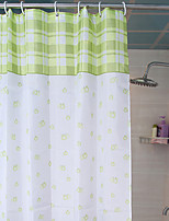 Shower Curtain Country Style Light Green W78 x L71