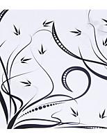 Personalized Black Pelletiera Pattern Paper Petal Cones - Set of 12