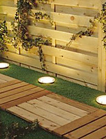 Solar Power Round Recessed Deck Dock Pathway Garden LED Light