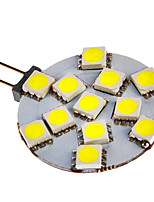 G4 3W 12x5050SMD 108LM 6000-7000K Cool White Light Bulb LED pour la voiture (12V DC)