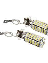 H3 8W 118x3528SMD 660LM 5500-6500K Cool White Light LED Bulb for Car (12V,2pcs)