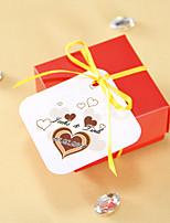 Étiquettes de faveur personnalisées - Coeur de chocolat (ensemble de 36)