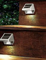 4-LED Outdoor Solar Powered parete Stairway Yard Garden Fence Spot Light