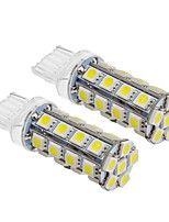 T20 6W 30x5060SMD 540LM 5500-6500K Cool White Light LED Bulb for Car (12V,2pcs)
