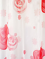 Shower Curtain High Class Red Rose Print W71 x L71