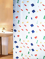 Shower Curtain Geometry Print W71 x L71