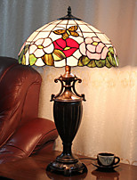 Lampada da tavolo, 2 Luce, Chic Tiffany Resin Glass Painting