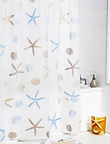 Shower Curtain Starfish Print W71 x L71