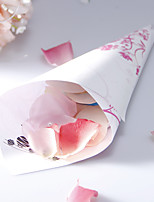 Personalized Floral Paper Petal Cones - Set of 12