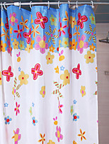 Shower Curtain Red Roses Print W78 x L71